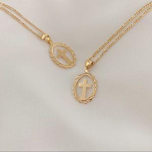 Cross Necklace | 18k Gold Filled